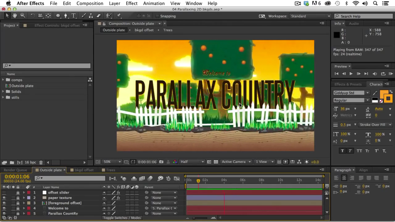 parallax background tutorial