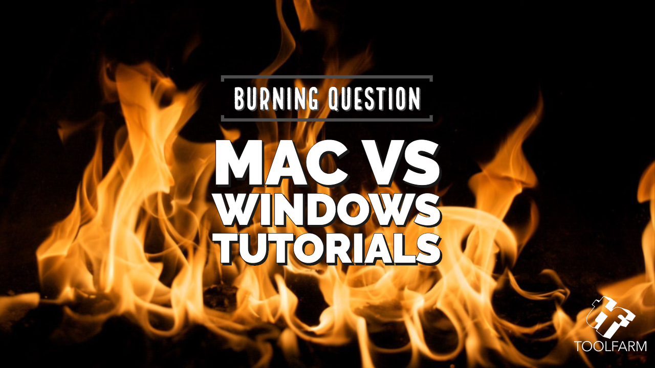 Burning Question Mac vs Windows