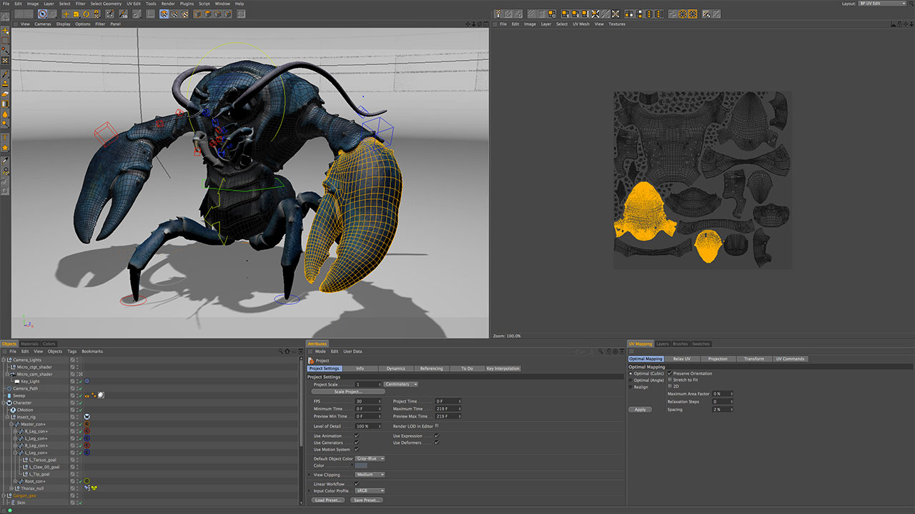 UV Mapping and Unwrap for Maxon Cinema 4D with BodyPaint
