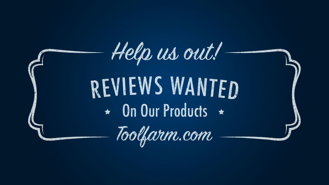 Write a review at toolfarm