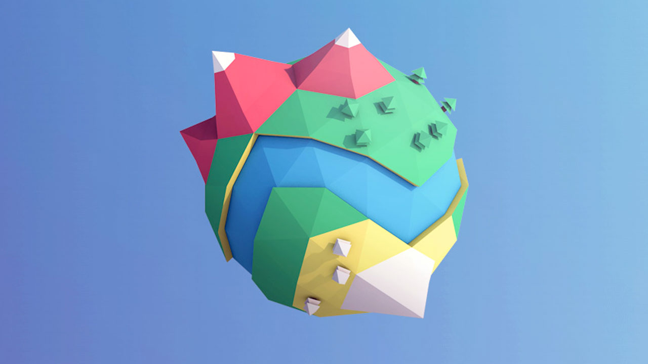 Low-Poly Mini Planet