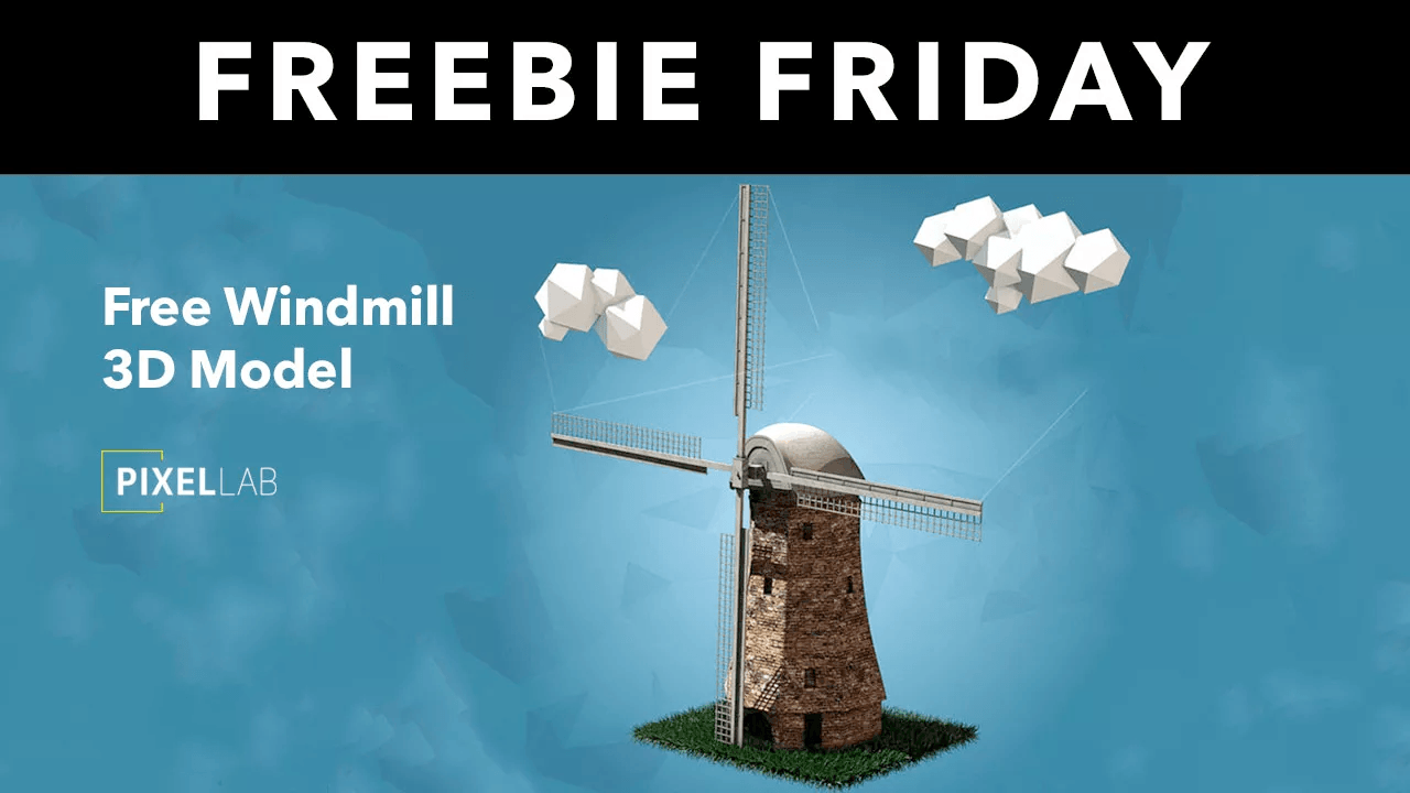 Freebie: 3D Windmill Model for Cinema 4D from The Pixel Lab