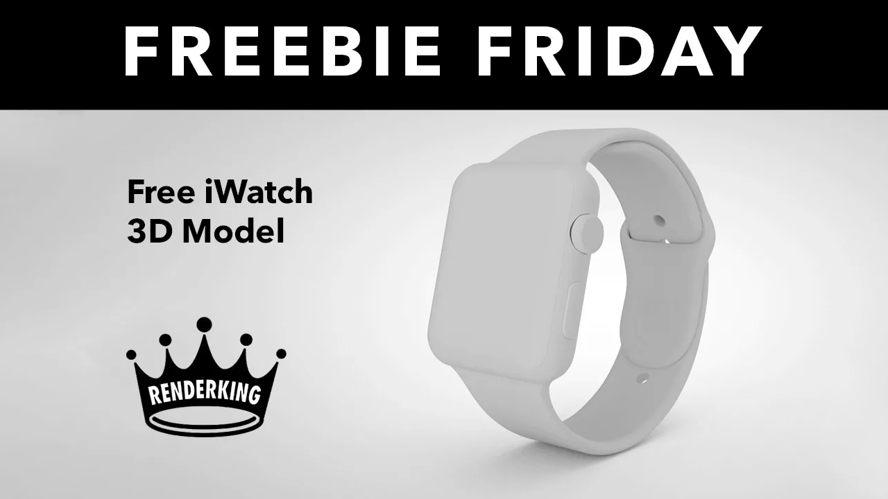 Free: iWatch 3D Model from RenderKing