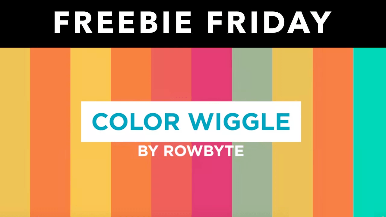 Freebie: After Effects: Rowbyte Color Wiggle