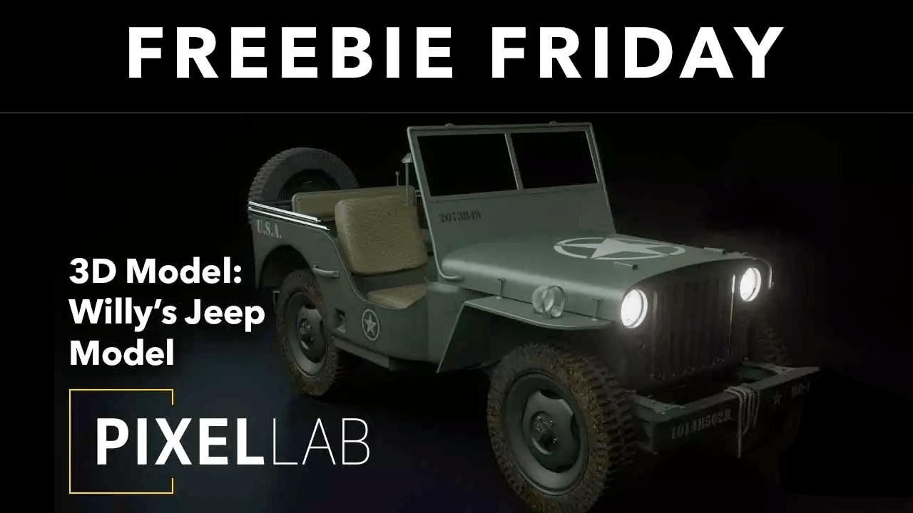 Freebie: 3D Jeep Model from The Pixel Lab