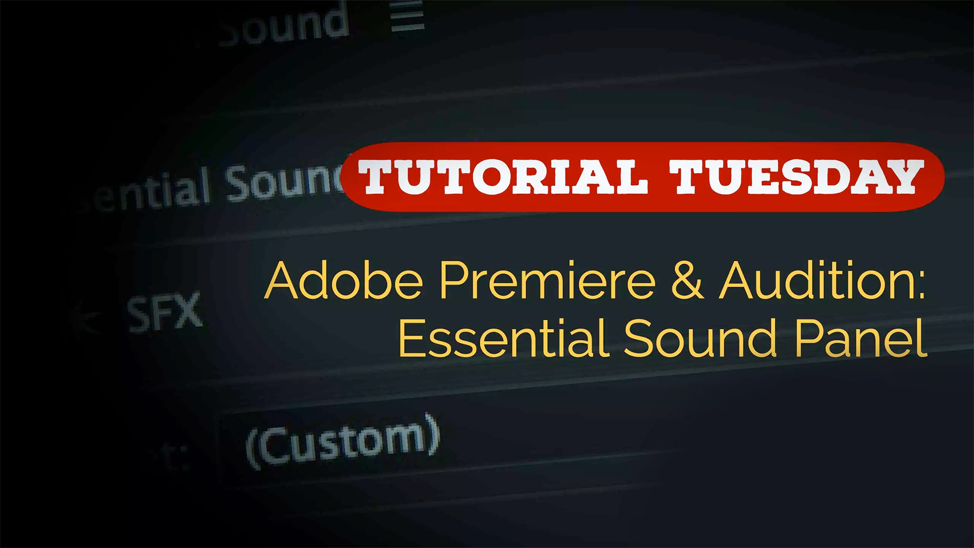 Adobe essential sound panel