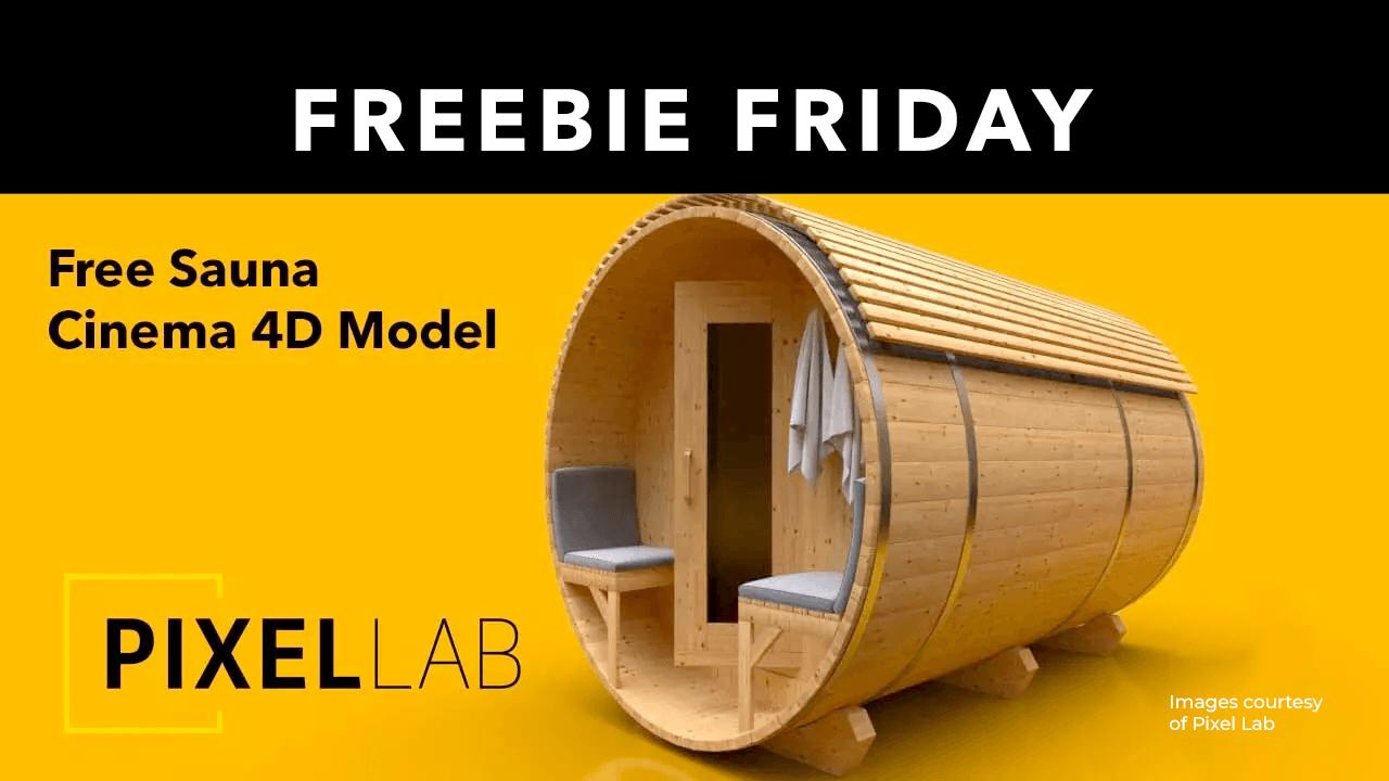 Freebie: Free Barrel Sauna Model for Cinema 4D from The Pixel Lab