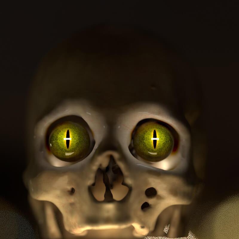 pixel lab spooky skull freebie