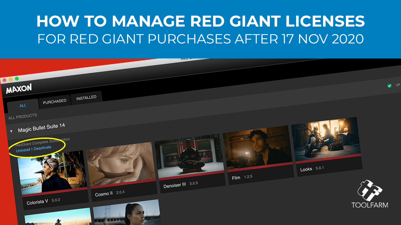 Red Giant Application Manager - Maxon Login