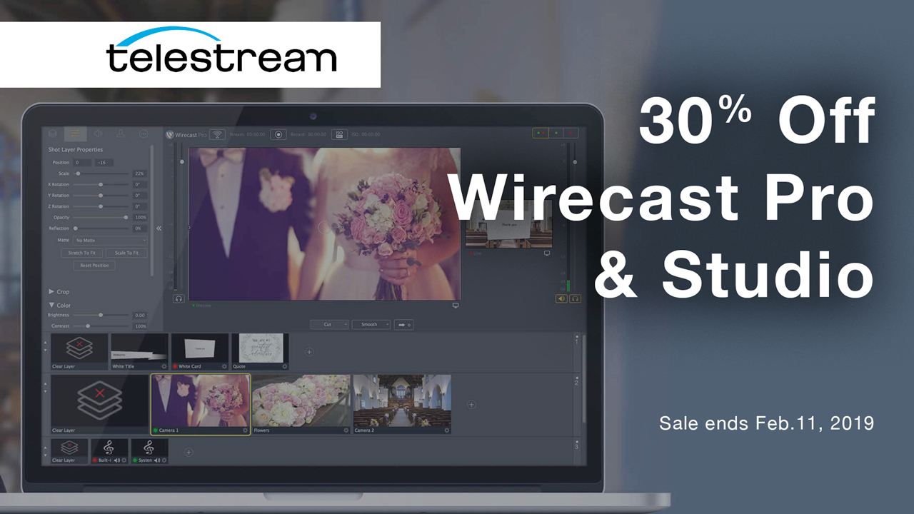 Telestream Wirecast 30% Off