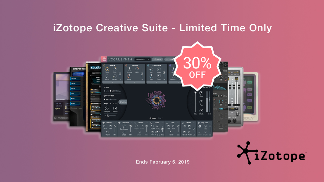 izotope creative suite 30% Off
