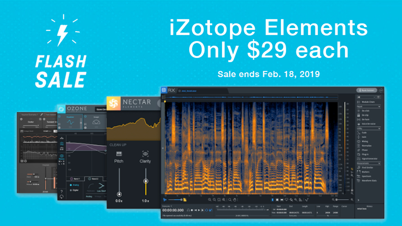 izotope presidents day flash sale