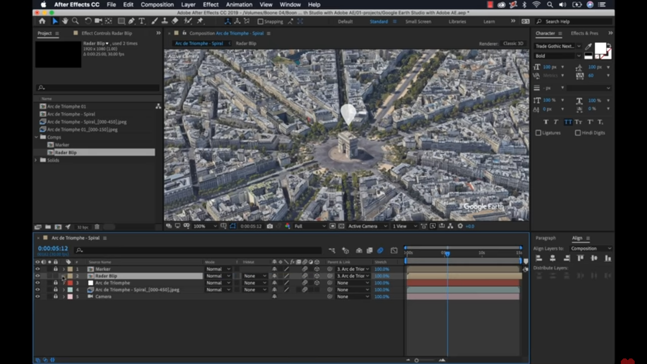 google earth studio after effects tutorial