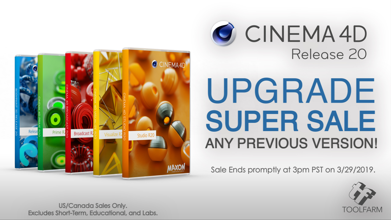 maxon cinema 4d r20 upgrade super sale