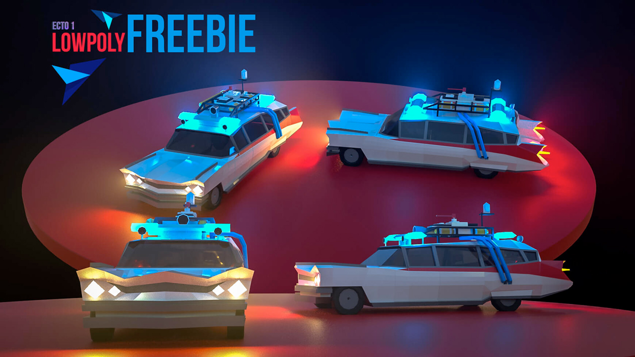 ecto-1 low poly