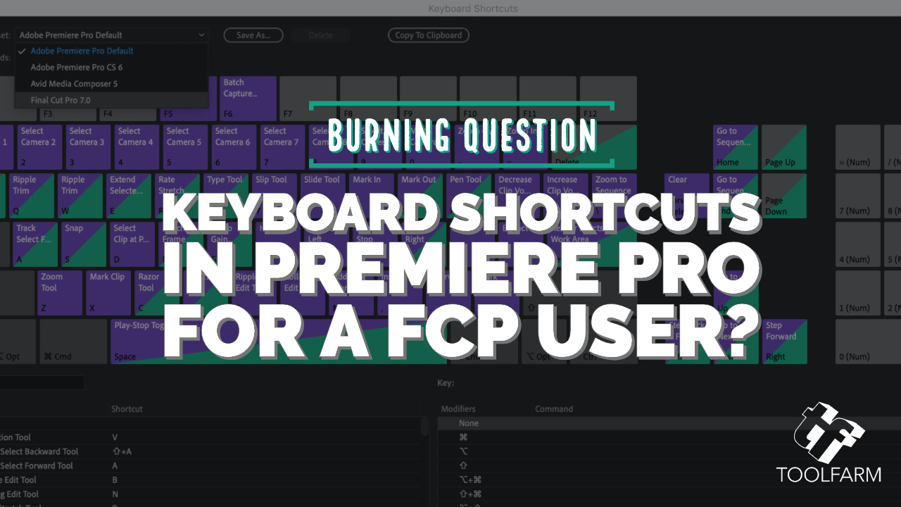 Burning Question: Keyboard Shortcuts in Premiere Pro for an FCP User?