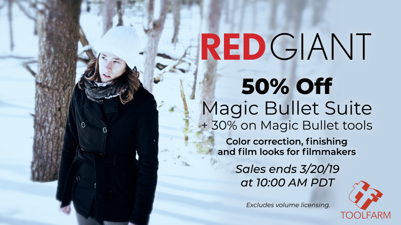 Red Giant 50% off Magic Bullet Suite, 30% off Magic Bullet Tools