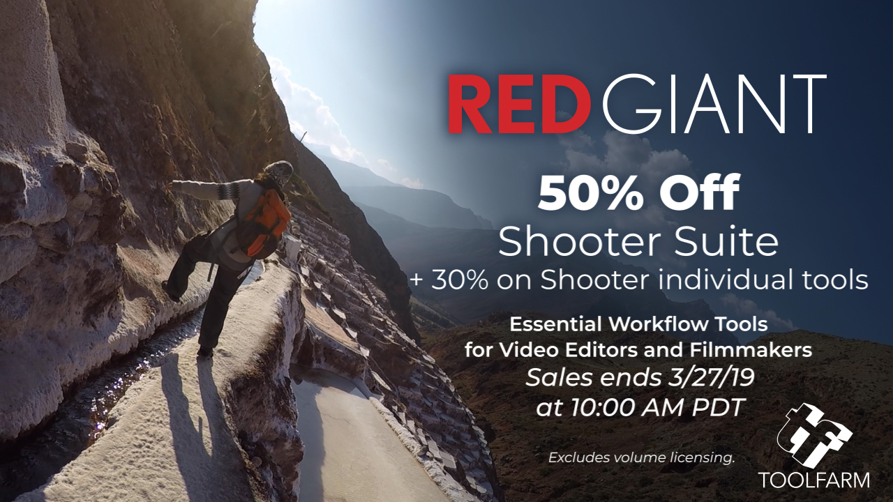 Red giant shooter suite one day sale