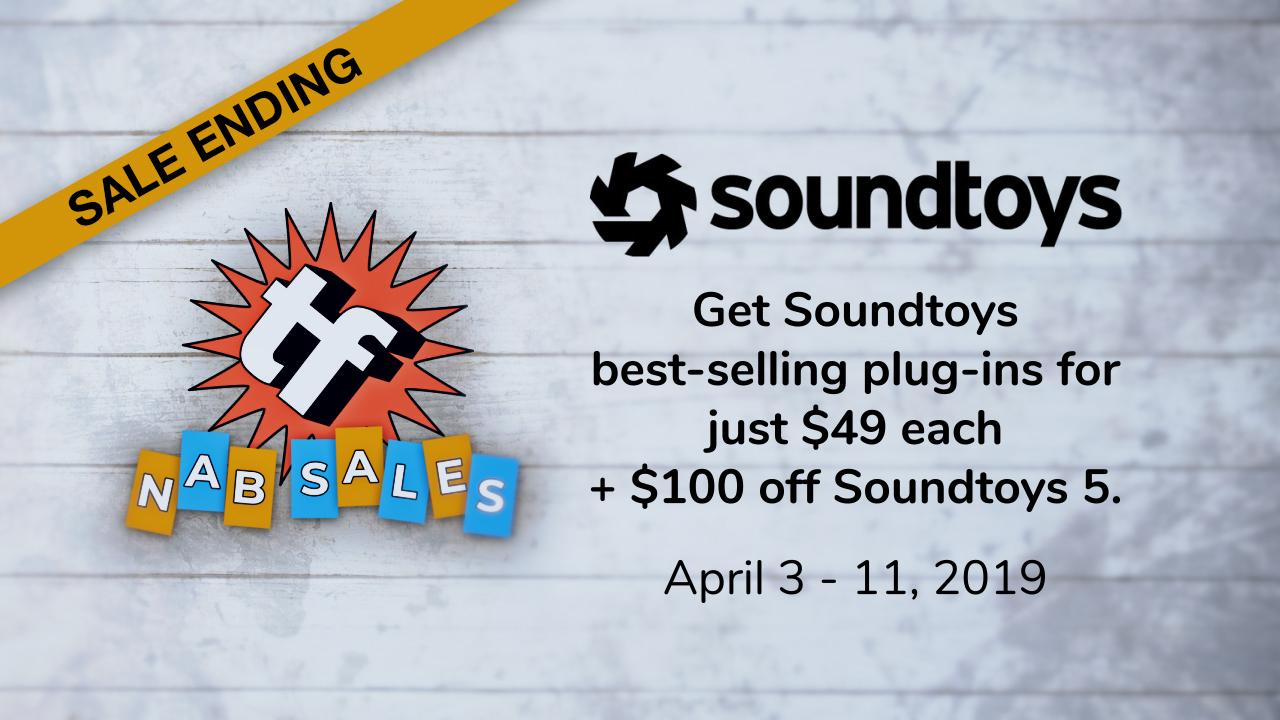 soundtoys $100 off ending