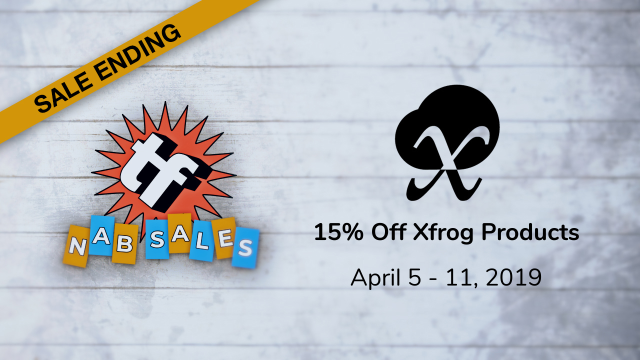 xfrog -15% off - ends