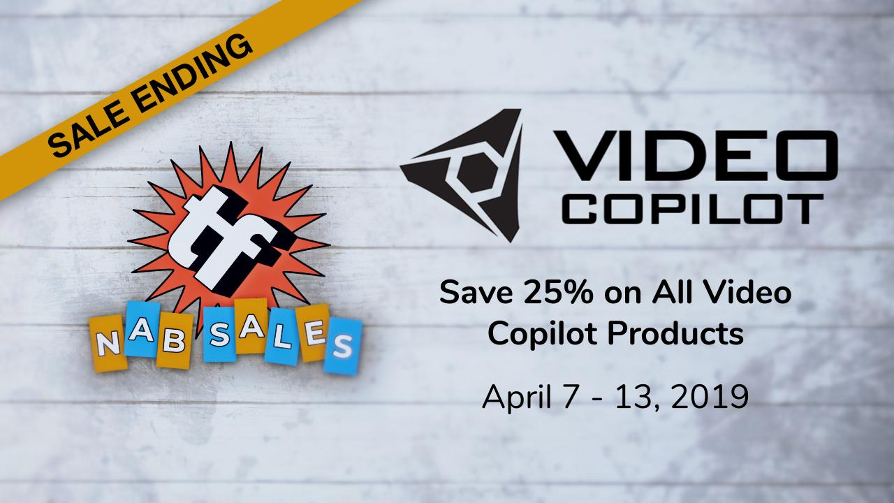 nab sale video copilot 25% off ending