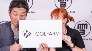 Hideki Takemura of Toolfarm Japan and Michele Terpstra of Toolfarm