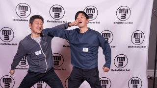 Hideki Takemura and Hiroki Ikeda, getting silly on the red carpet!