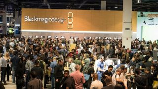 The Blackmagic Design booth was packed!