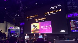 The Avid Booth featured several artists who worked on Bohemian Rhapsody. NAB 2019.
