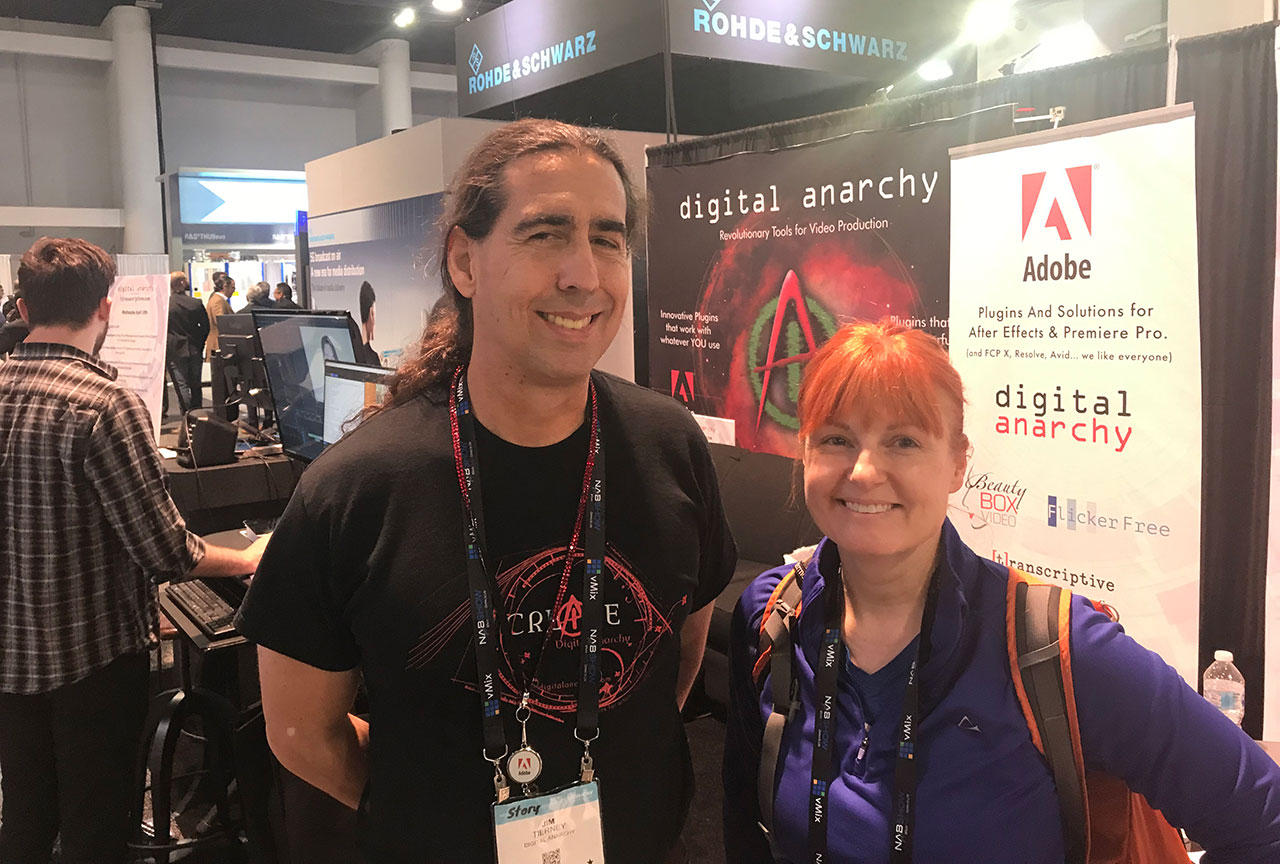 Jim Tierney of Digital Anarchy and Michele Terpstra of Toolfarm, NAB 2019.