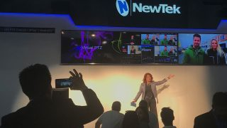 Kiki Stockhammer presenting for NewTek at NAB 2019.