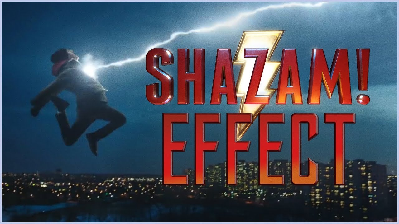 Shazam effect from film riot