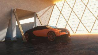 Pixel Lab 3D Car Display Scene