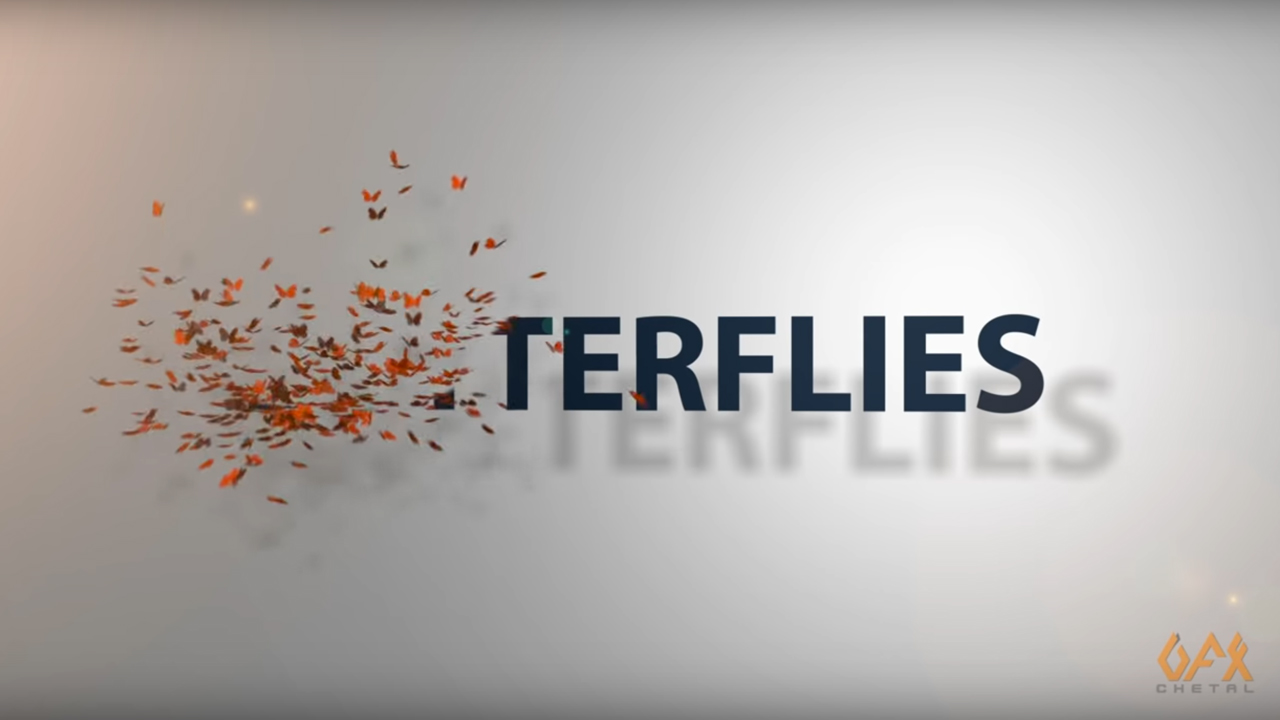 fusion text to butterflies tutorial