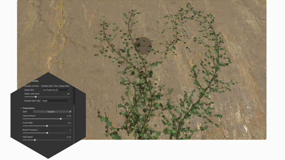 substance painter ivy generator