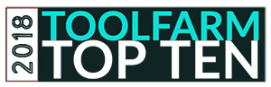 Toolfarm Top Ten 2018 badge