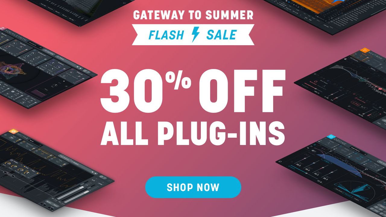 izotope summer sale 30% off