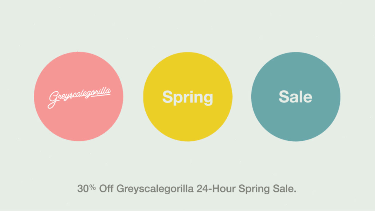 greyscalegorilla 24 hour spring sale
