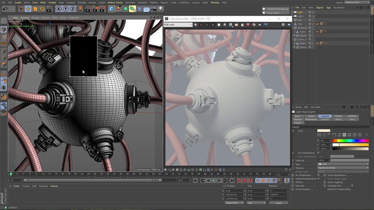 V-Ray for Cinema 4D Development Progress