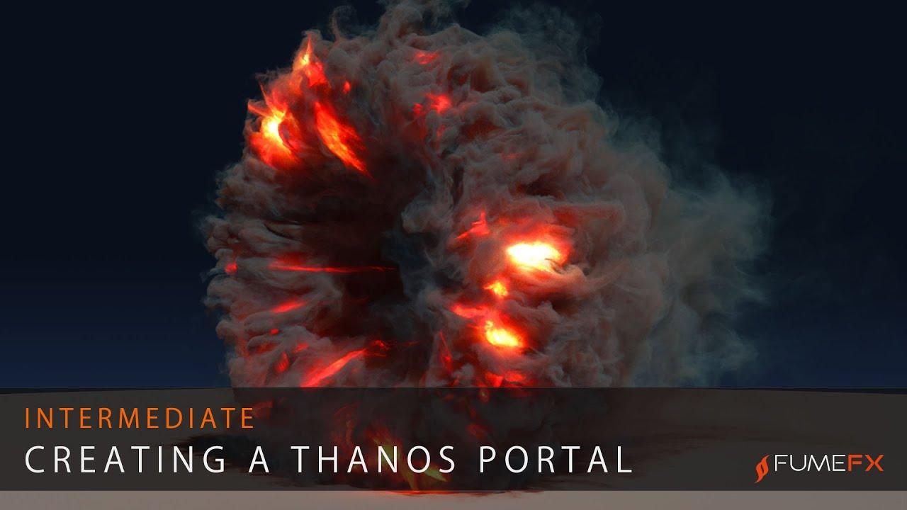 Thanos Portal FumeFX
