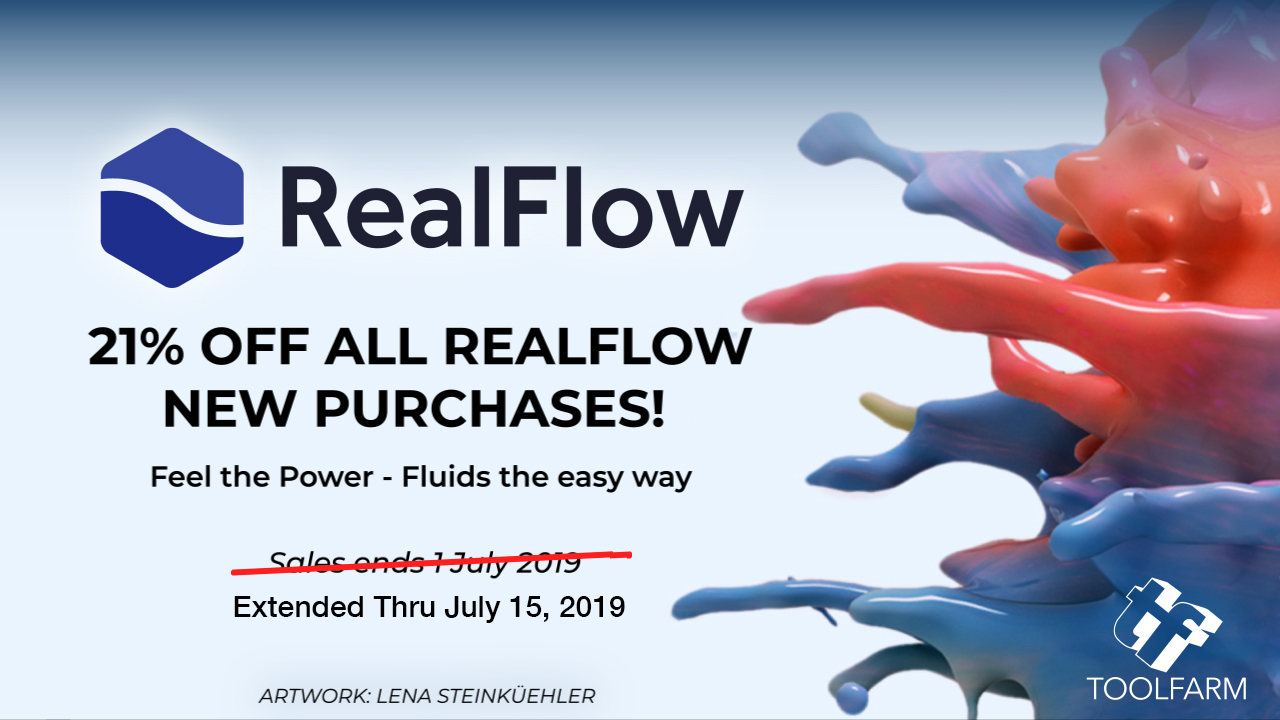 realflow 21% off sale extended