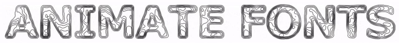 topograph font
