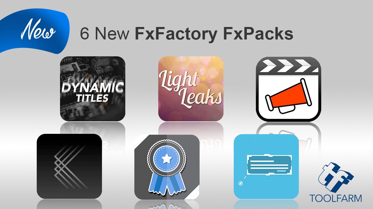 6 new fxfactory fxpacks