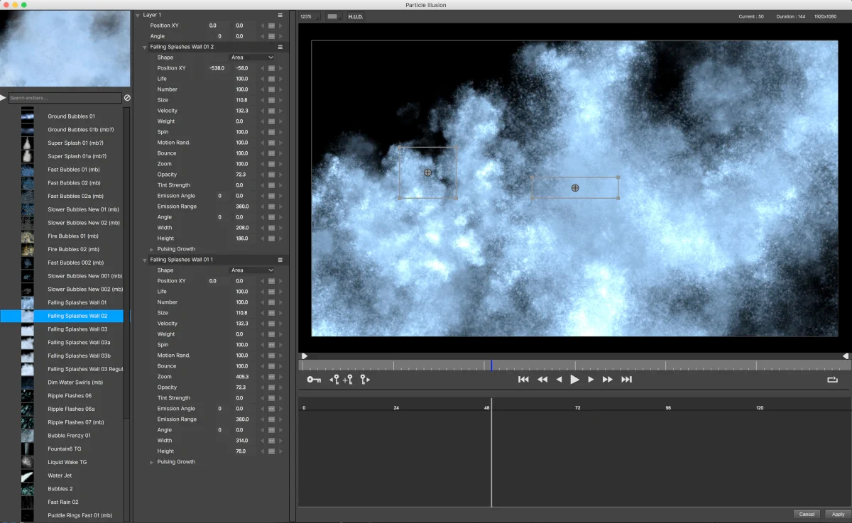 boris particle illusion preset library