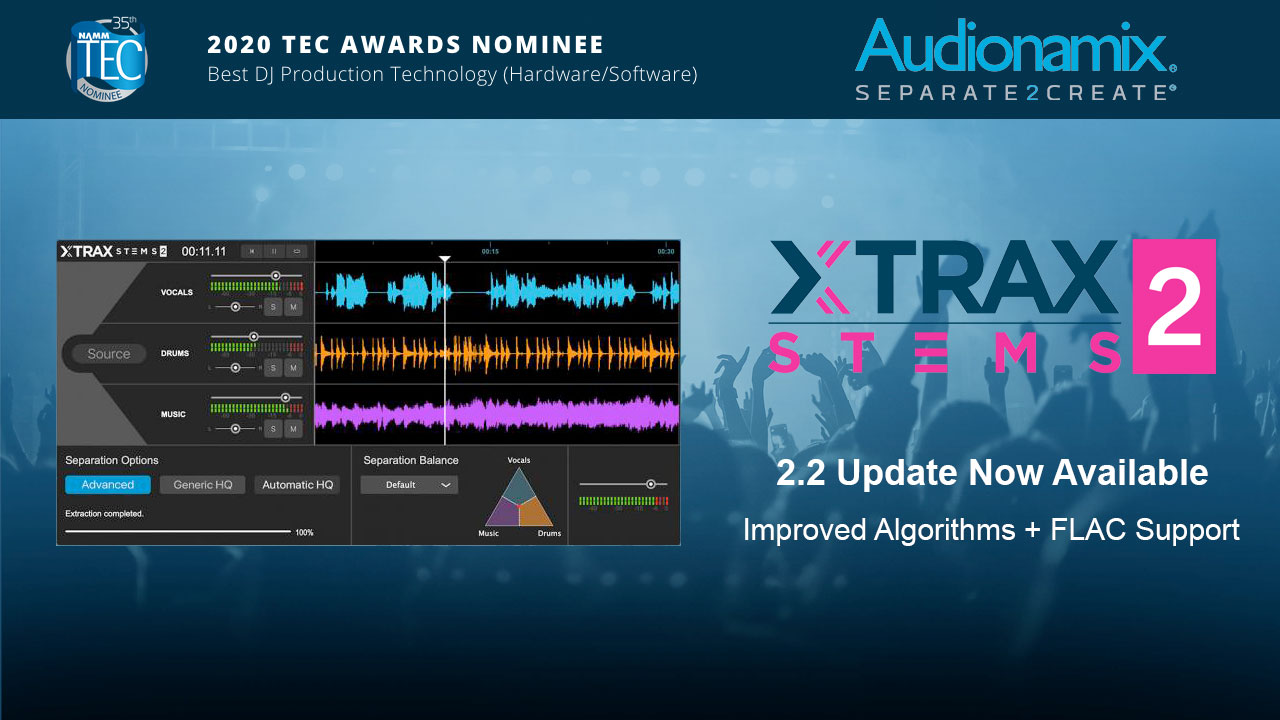 audionamix XTRAX STEMS 2.2 update