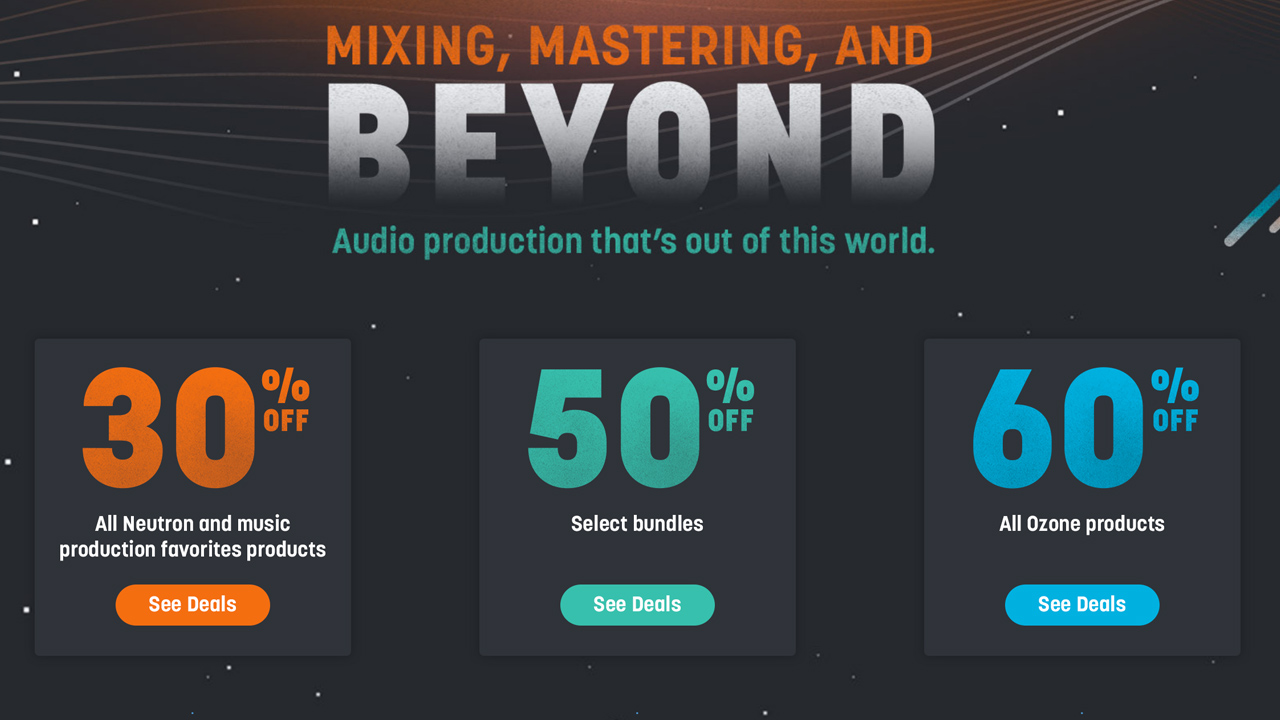 Sale: iZotope August Sale - Up to 60% Off - Ends August 29