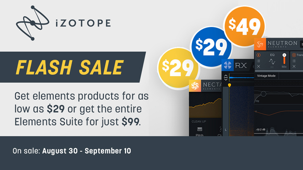 izotope elements flash sale