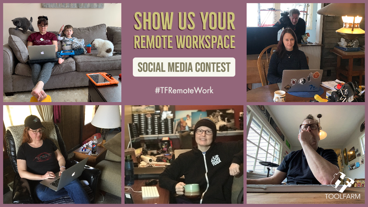 Toolfarm Show us Your Remote Workspace contest