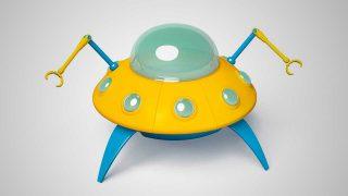 3D Sci-Fi Models Cartoon UFO Spacestation
