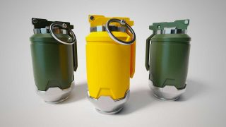 3D Sci-Fi Models: Sci-Fi Hand Grenade